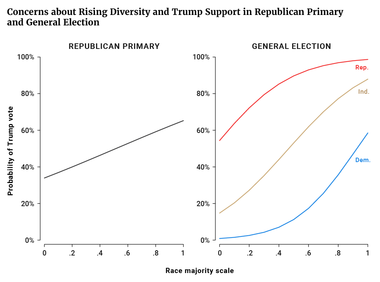 Concerns about Rising Diversity and Trump Support in Republican Primary and General Election